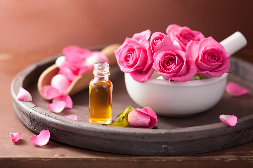 rose essential oil for calming