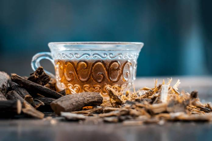 licorice roots for strep throart
