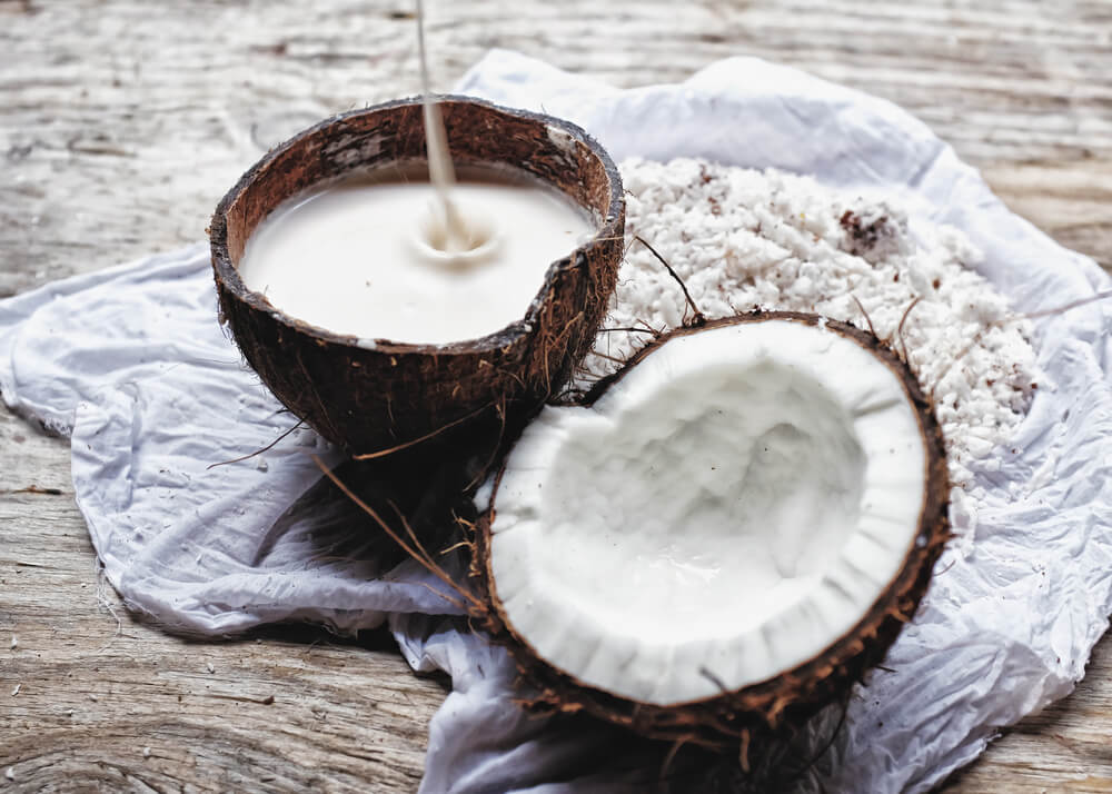 use coconut milk for hair problems
