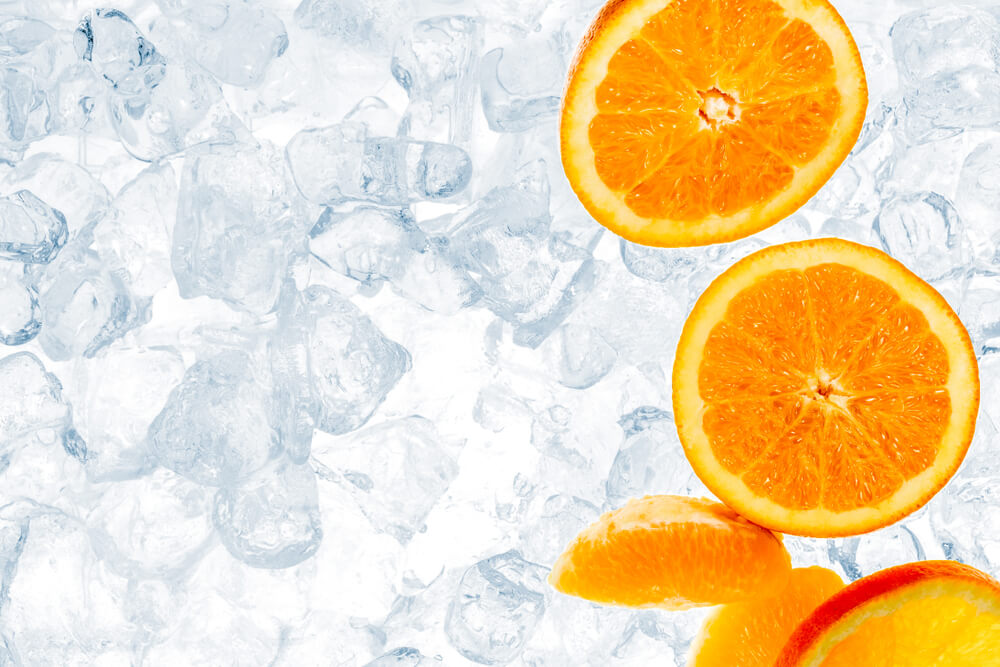 Orange Ice Cubes