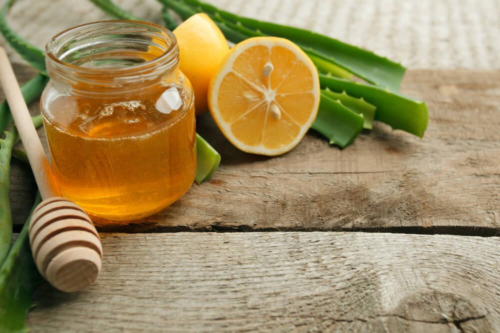 Honey and pure Aloe Vera