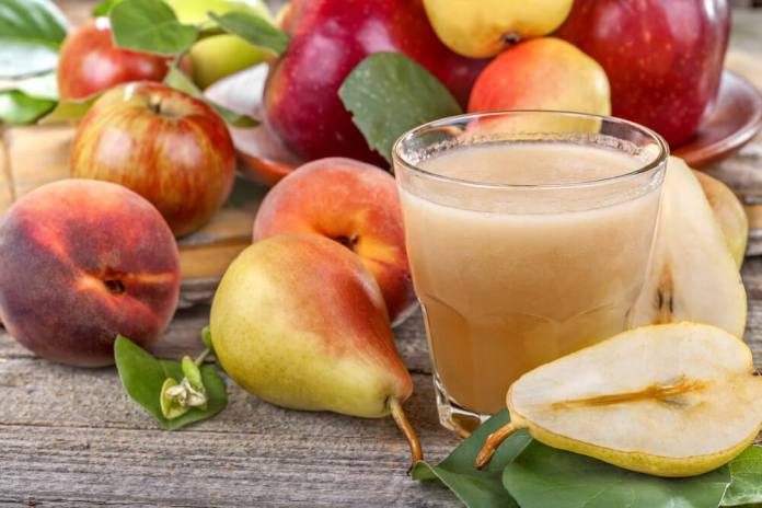 Pear juice for constipation