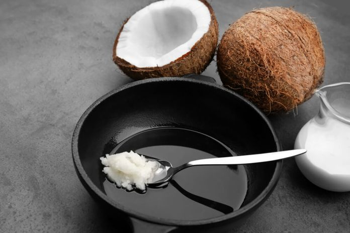 coconut with oil