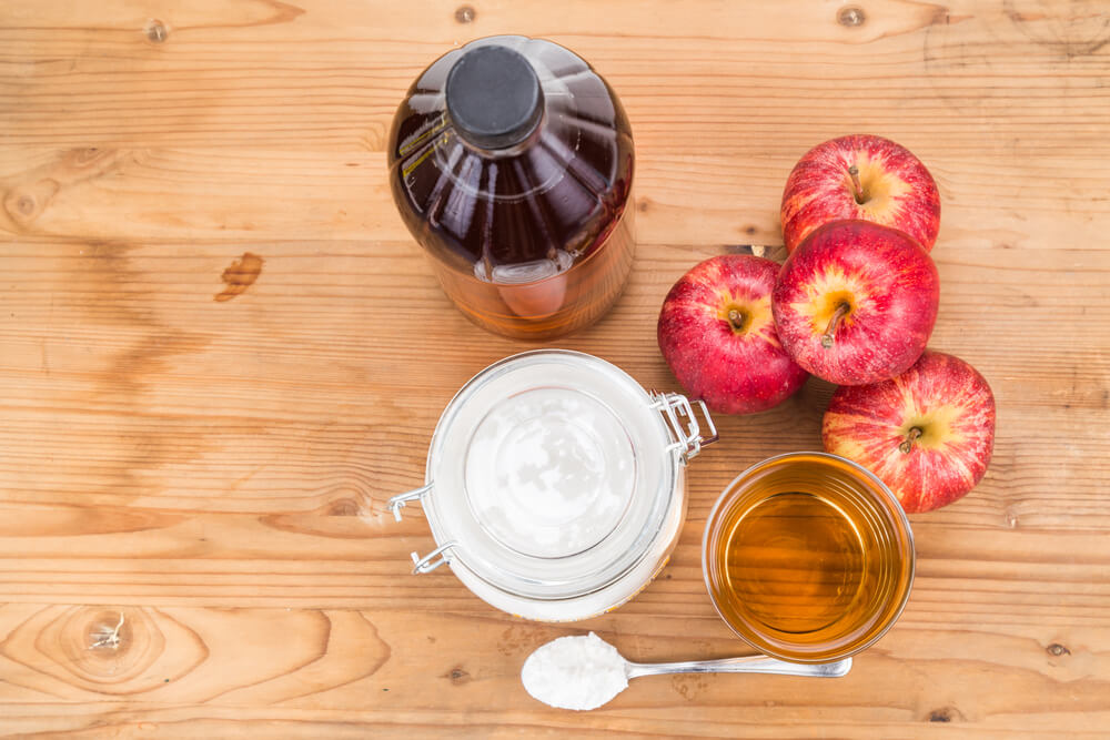 Baking Soda combined with Apple Cider Vinegar