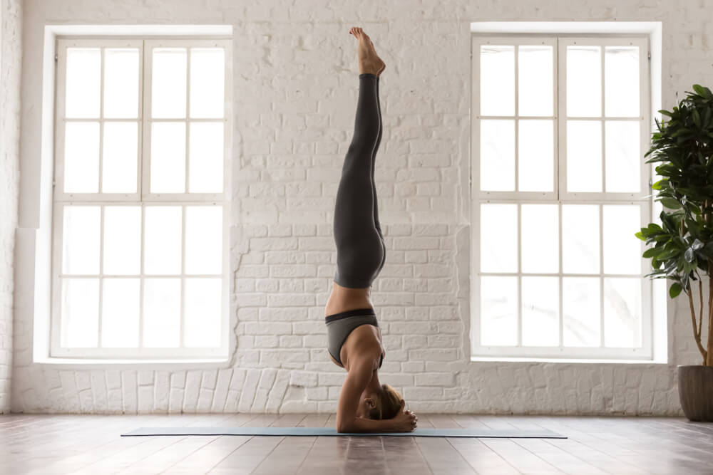 Headstand Pose for Anxiety