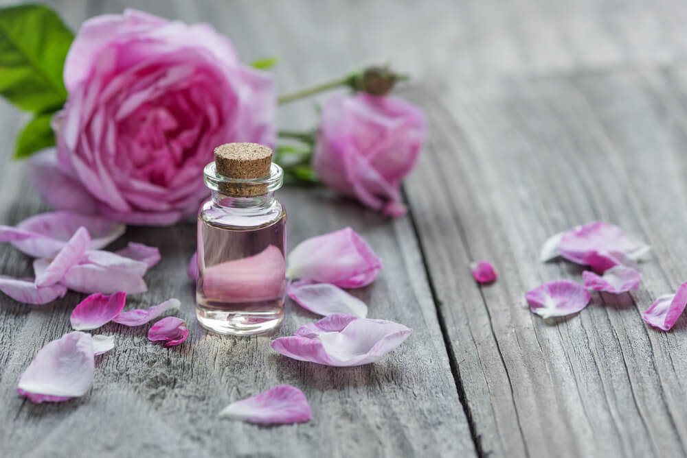 rose oil with rose