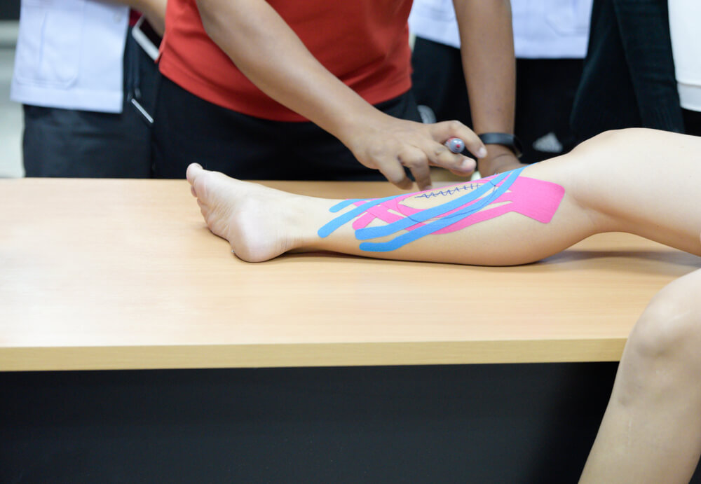 kt tape on shin splints