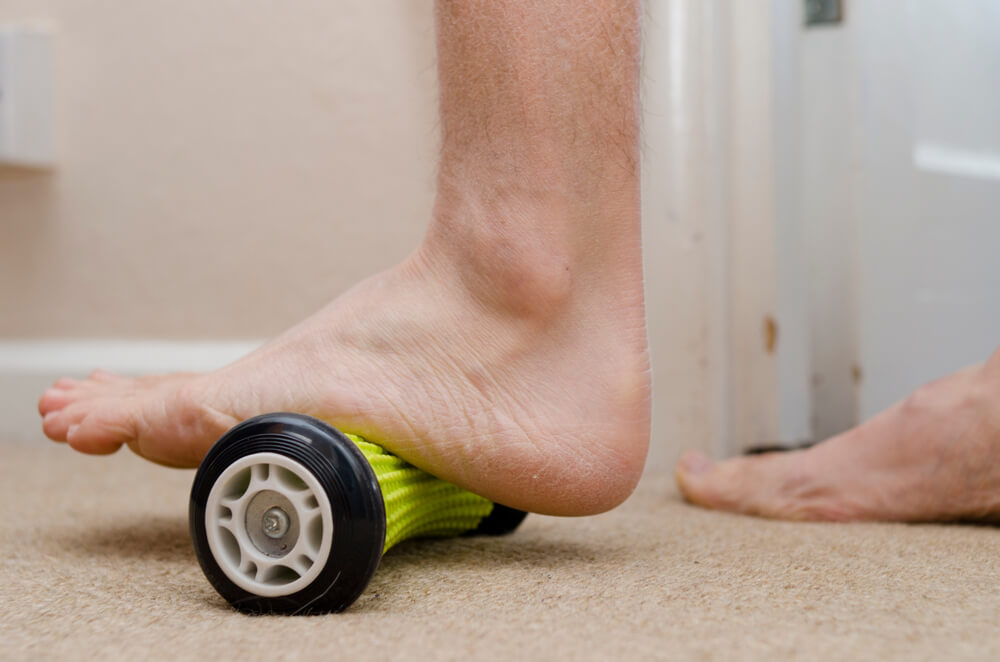 Massage Using a Foot Roller