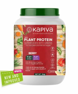 Kapiva 100% Plant Protein Superfoods With Greens Nutrition Powder