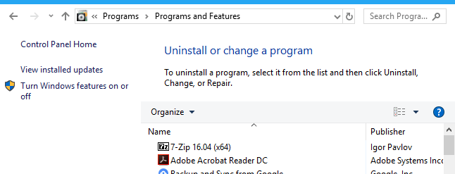 How to Get to the Old Uninstall Programs Panel on Windows 10 - How