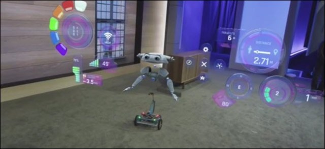 A Windows IOT robot powered by raspberry pi with holograms
