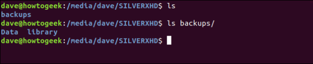 Leaving ls in a terminal window