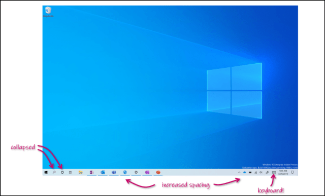 The new tablet mode of Windows 10