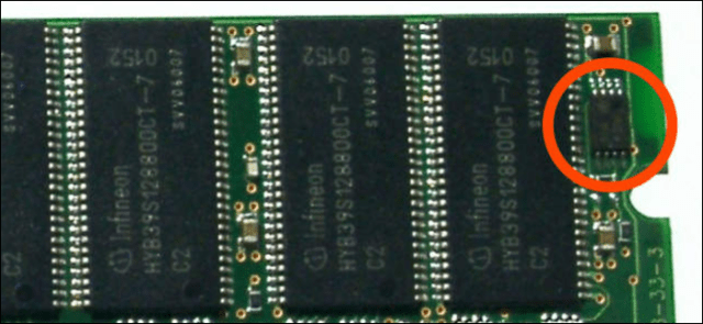 Serial presence detection chip