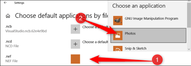Change the default application for your most used RAW files