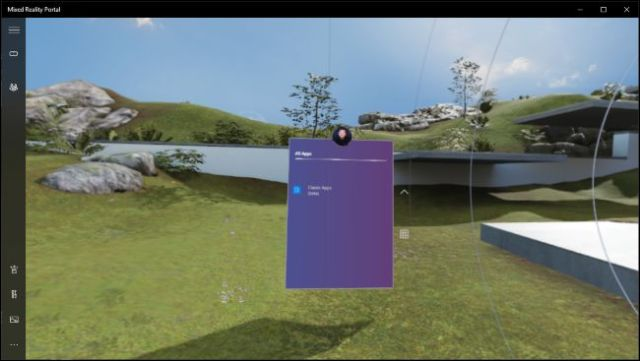Desktop application running in Windows Mixed Reality