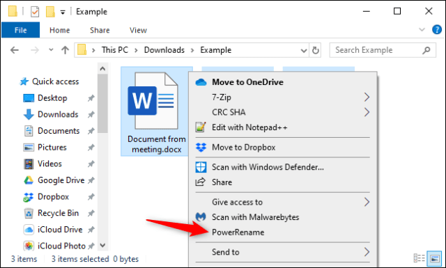 Mass rename files in File Explorer with Microsoft PowerToy.