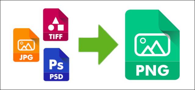 diagram showing different image file formats