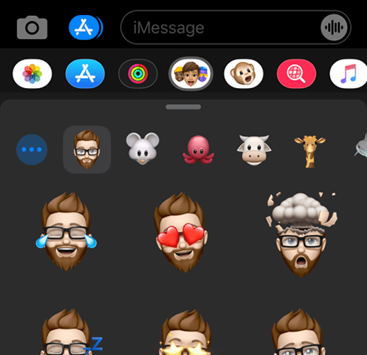 Using Memoji on a device without a Face ID