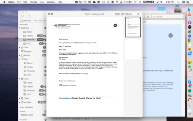A quick overview of a PDF in the Notes app.