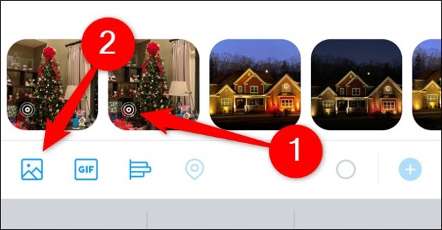 Apple iPhone Twitter app Press Live Photo or select the Galaxy button and choose Live Photo
