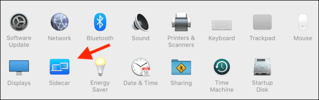 Click Sidecar in System. preferences