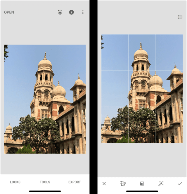 Comparison of Instant Editor perspectives