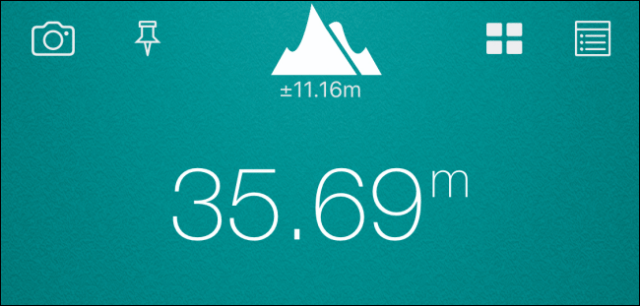 Display of the altitude in meters from the location