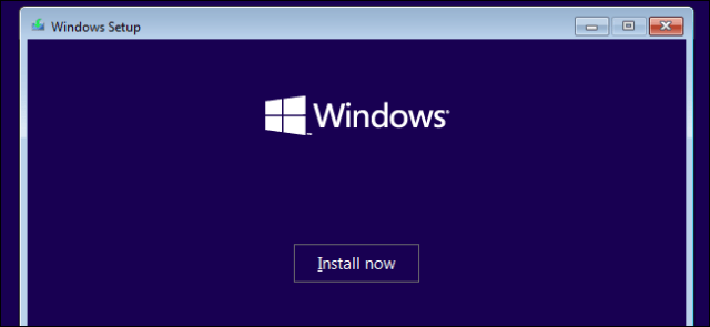 Windows 10 installation on a Windows 7 system.