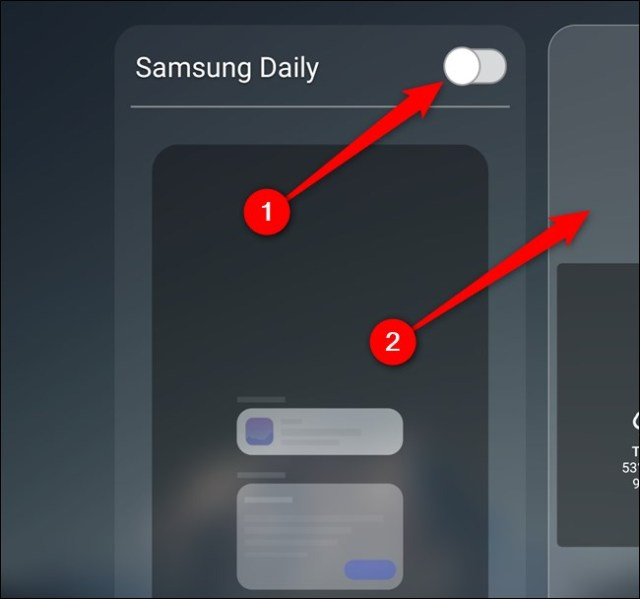 Samsung Galaxy S20 Turn off Samsung Daily, then select the Home screen