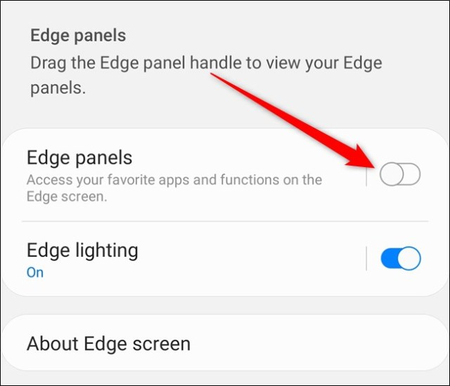 Samsung Galaxy S20 Switch the dashboard from the Settings menu