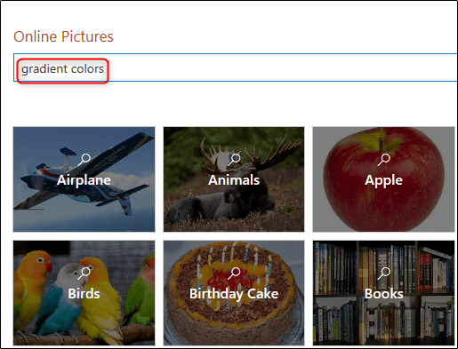 Search for images in Bing