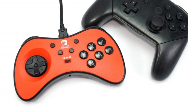 the FightPad with the Switch Pro controller.