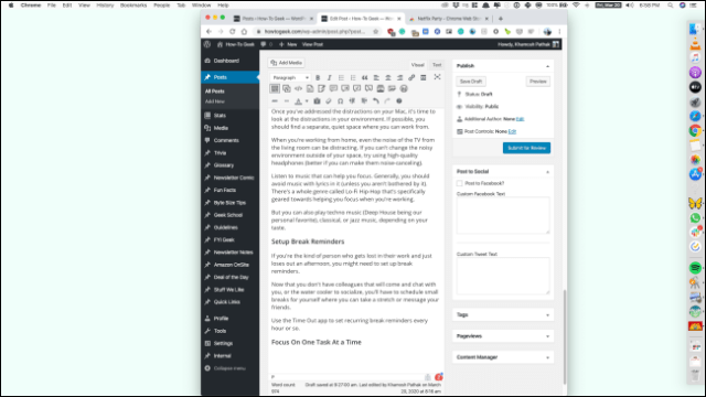 A Slack window opens with the background of the Backdrop application.