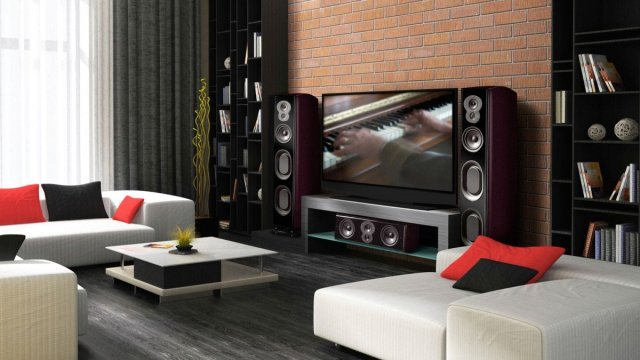 LSiM 707 speakers in the living space