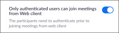 Only authenticated users can join the option