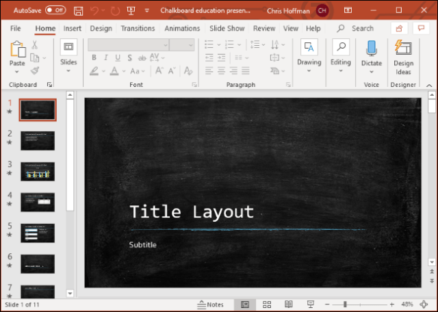 Microsoft PowerPoint on Windows 10