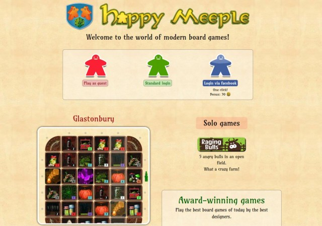 Happy Meeple home page