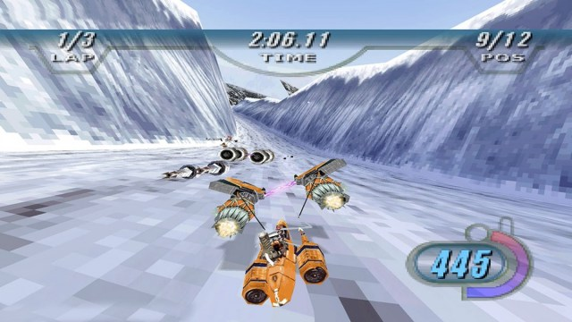 An image from the game Star Wars Episode I: Racer.