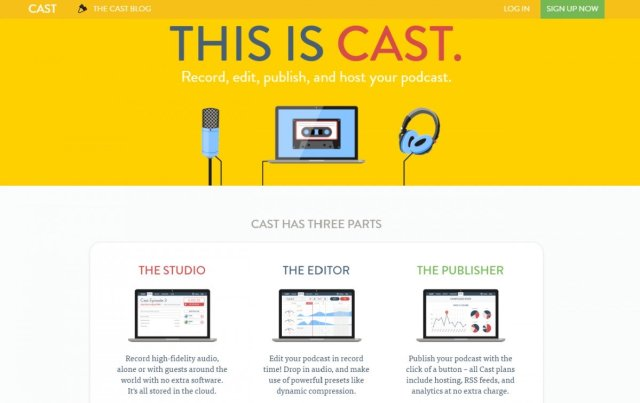 Cast podcast creation service