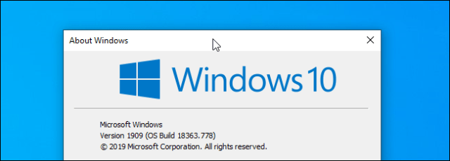 Click on the title bar of a window on Windows 10.