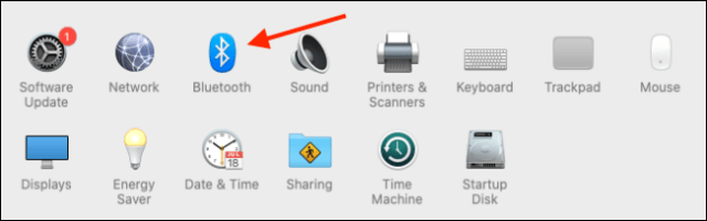 Click on Bluetooth in System Preferences