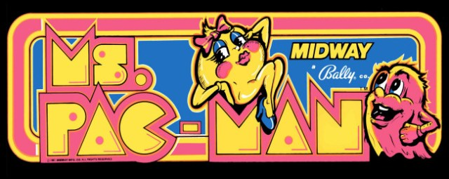 The arcade tent Ms. Pac-Man.