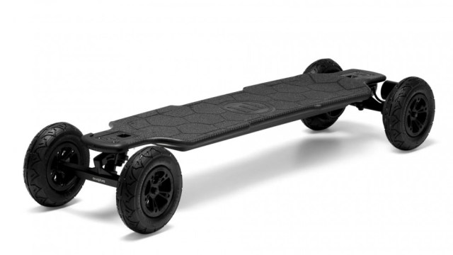 A photo of the Evolve GTR carbon fiber Longboard