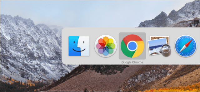 Use App Switcher on Mac to switch between open apps and windows