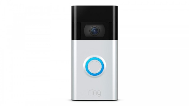 A photo of the Ring video doorbell.