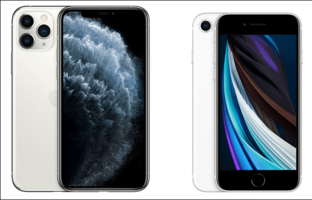 IPhone 11 Pro and iPhone SE 2.