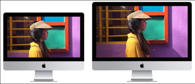 A 21-inch and 27-inch Apple iMac 2019 screen.