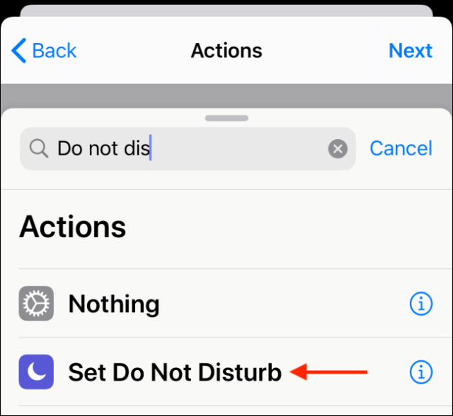 Choose the action to add