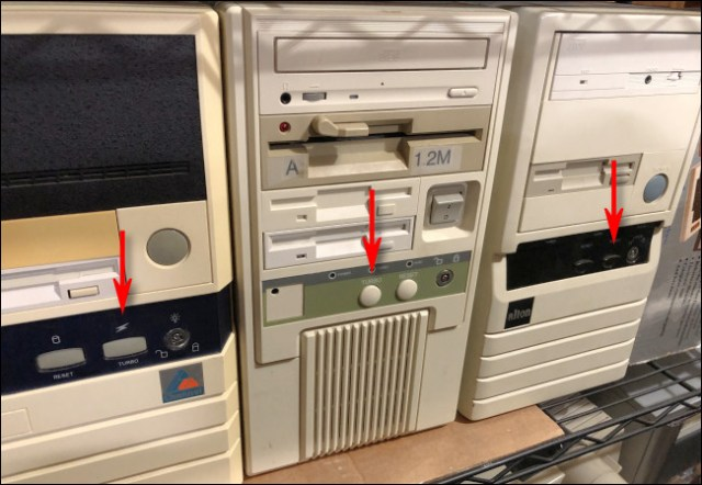 Pictures of PC with turbo buttons in the collection of Benj Edwards